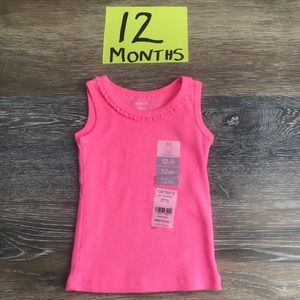 🛍NWT Carter's Girls 12 Month Tank